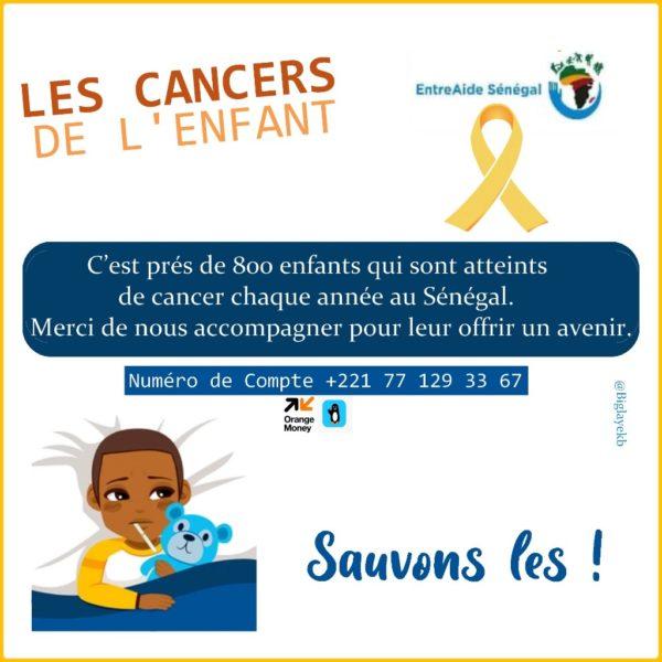 Je me mobilise pour les enfants atteints du cancer au Sénégal !